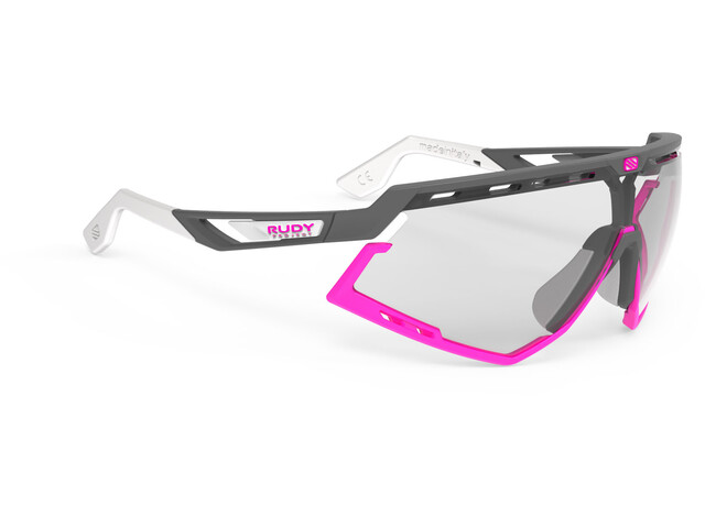 Rudy Project Defender Okulary rowerowe, szary/różowy